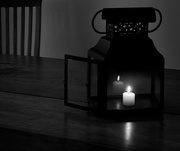 12th Feb 2017 - Candle Lantern for B and W