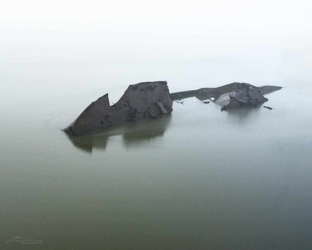 Shipwreck in Fog by jae_at_wits_end