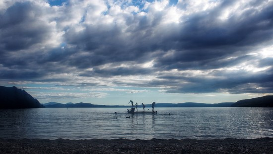Evening: Lake Taupo by happypat