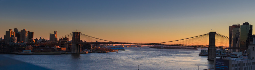 Brooklyn Bridge at Sunset  by jyokota
