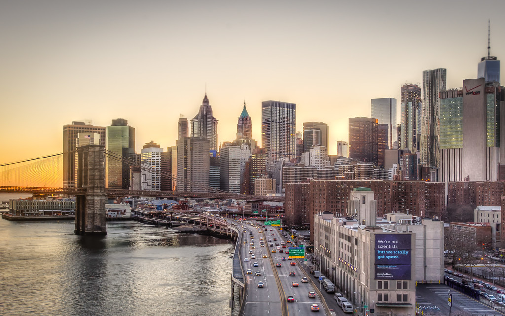 Lower Manhattan at the Golden Hour by taffy