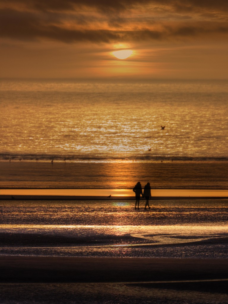 Walkers on Formby sands. by gamelee