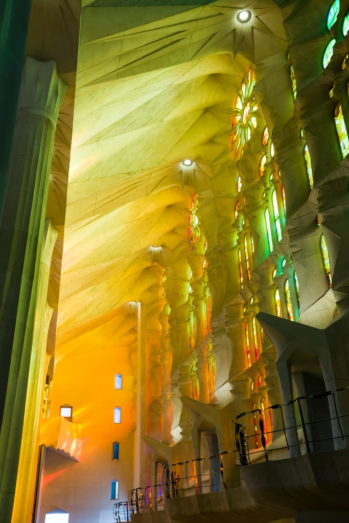 Light inside Sagrada Familia by cristinaledesma33