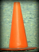 14th Mar 2017 - Orange construction cone