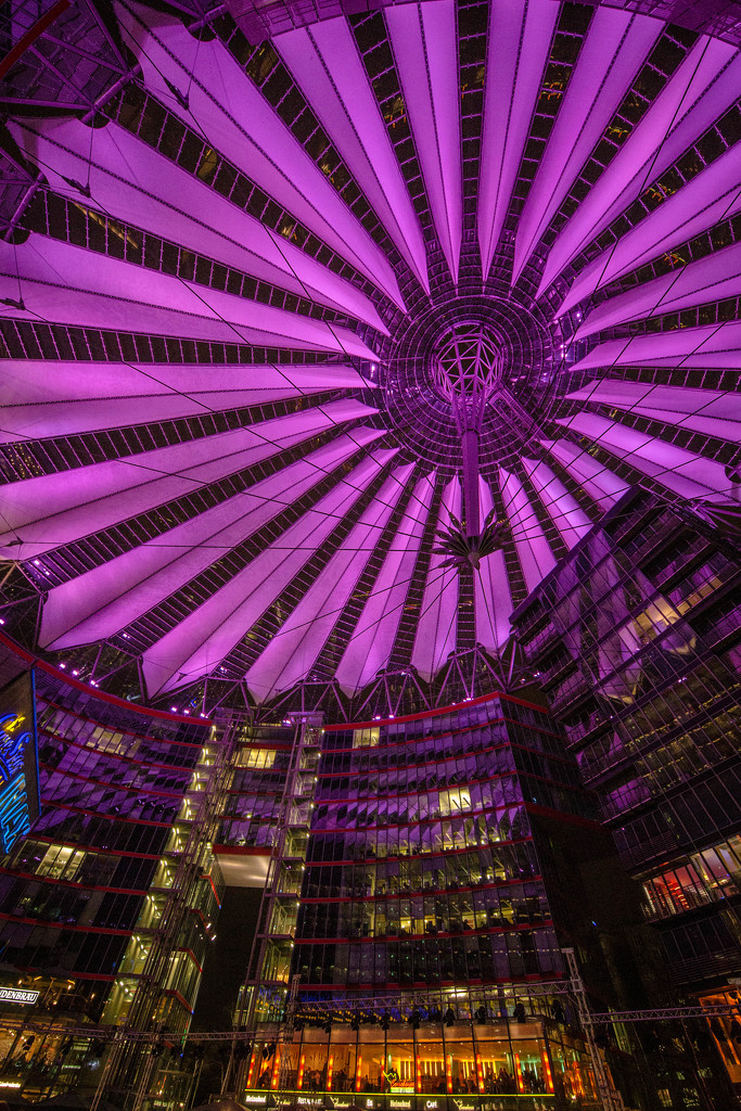 Potsdamer Platz At Night by jyokota