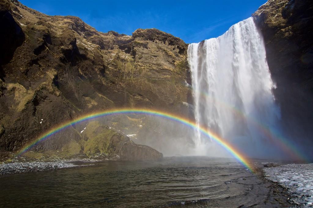 Skógafoss Rainbow Fall by jyokota