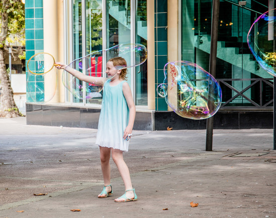Bubble Girl  by nicolecampbell