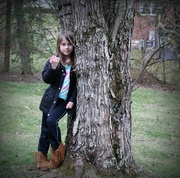 21st Mar 2017 - My granddaughter and the tree