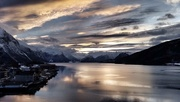 11th Mar 2017 - The sun setting in Andalsnes, Norway - still catching up!