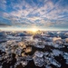 Glacier Ice Glowing: Sunrise at Jokulsarlon Beach by jyokota