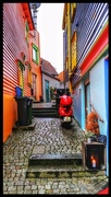 25th Mar 2017 - Colourful alleyway in Stavanger - love the red scooter too!