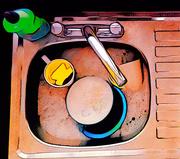 27th Mar 2017 - I Lichtenstein'd my sink...