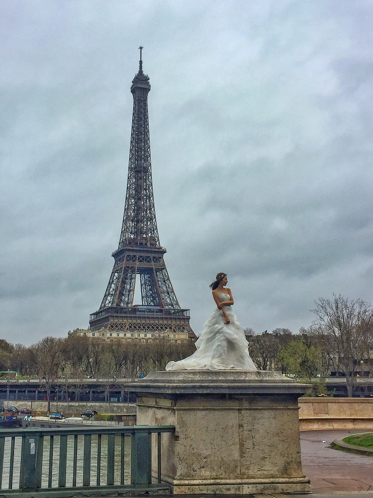 Eiffel bride.  by cocobella