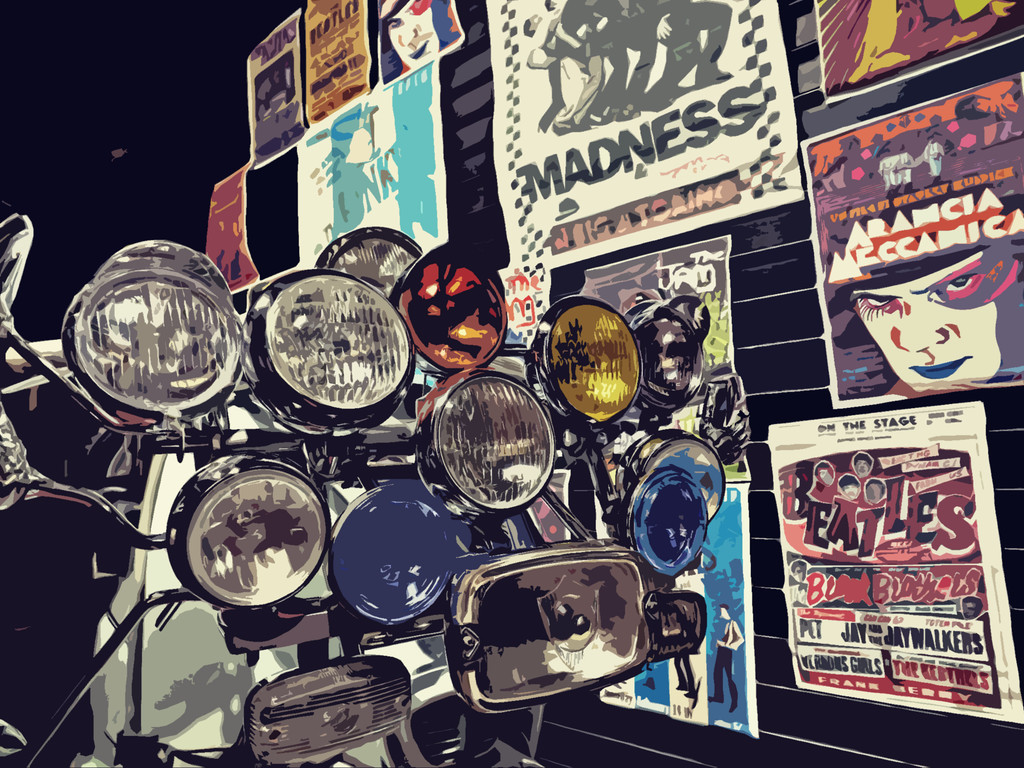 Lambretta Lights  by ajisaac