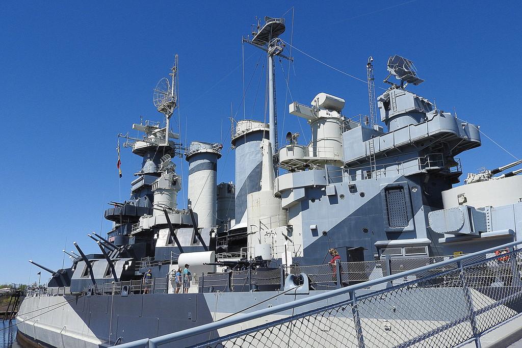 Boarding the battleship USS North Carolina by homeschoolmom