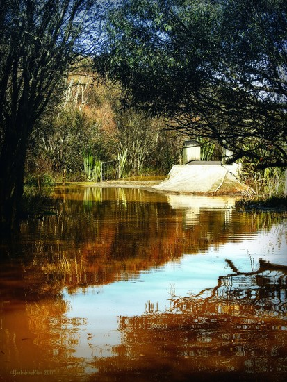 Flooded path by yorkshirekiwi
