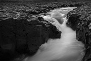 31st Mar 2017 - Swooshy Waterfall in Black and White