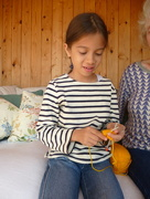 9th Apr 2017 - Knitting lesson from granny