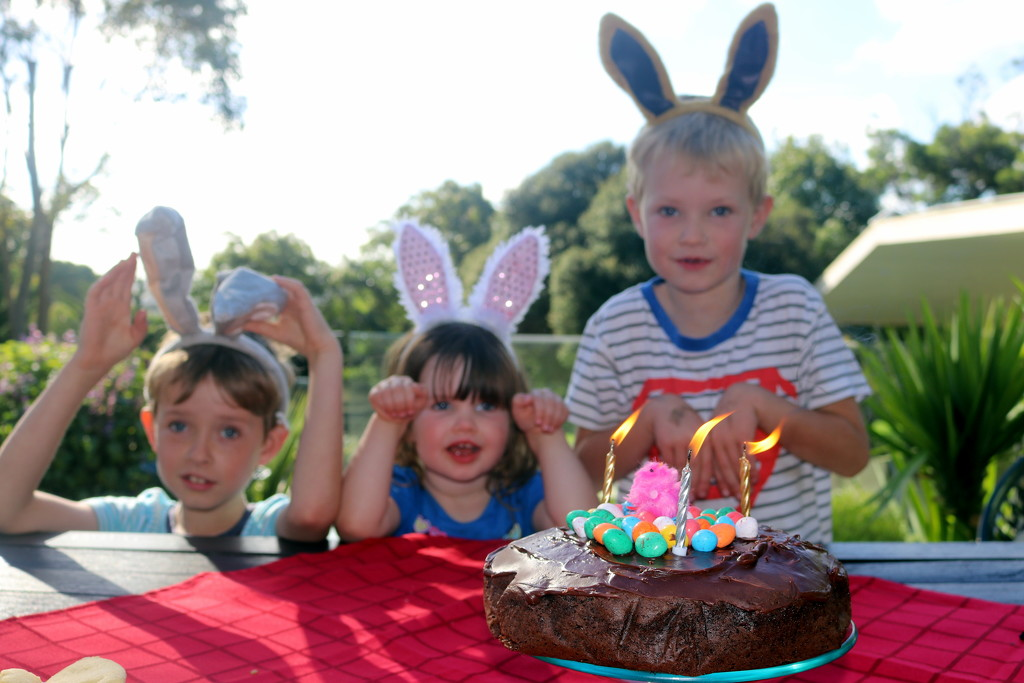 Happy Easter from 3 funny bunnies by gilbertwood