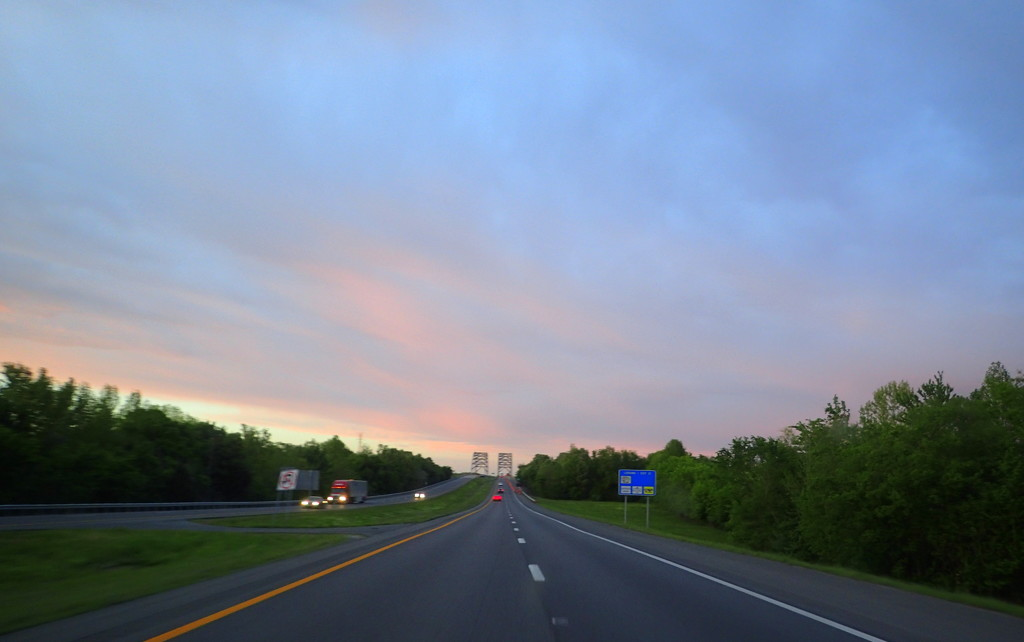 Road Trip Sundown by cjwhite