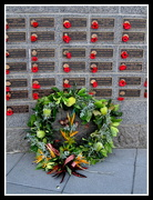 26th Apr 2017 - A wreath  laid in memory of those who died serving their country