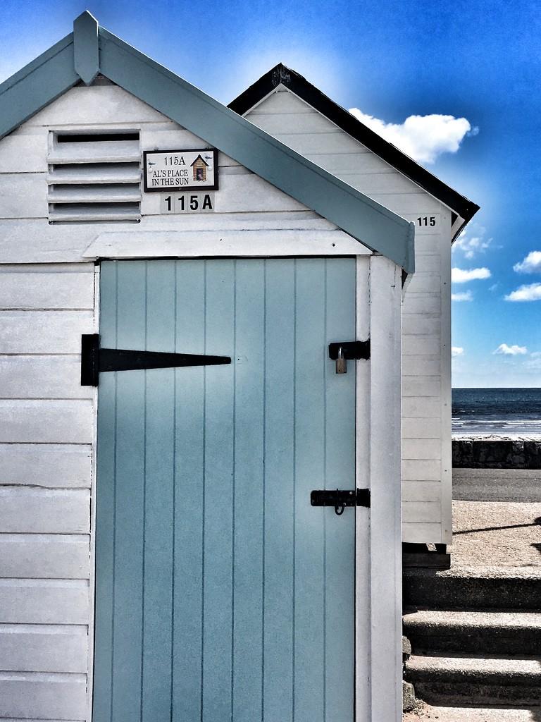 Pair of Beach Huts by cookingkaren