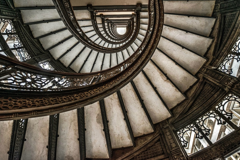 Looking Up the Spiral Staircase by taffy