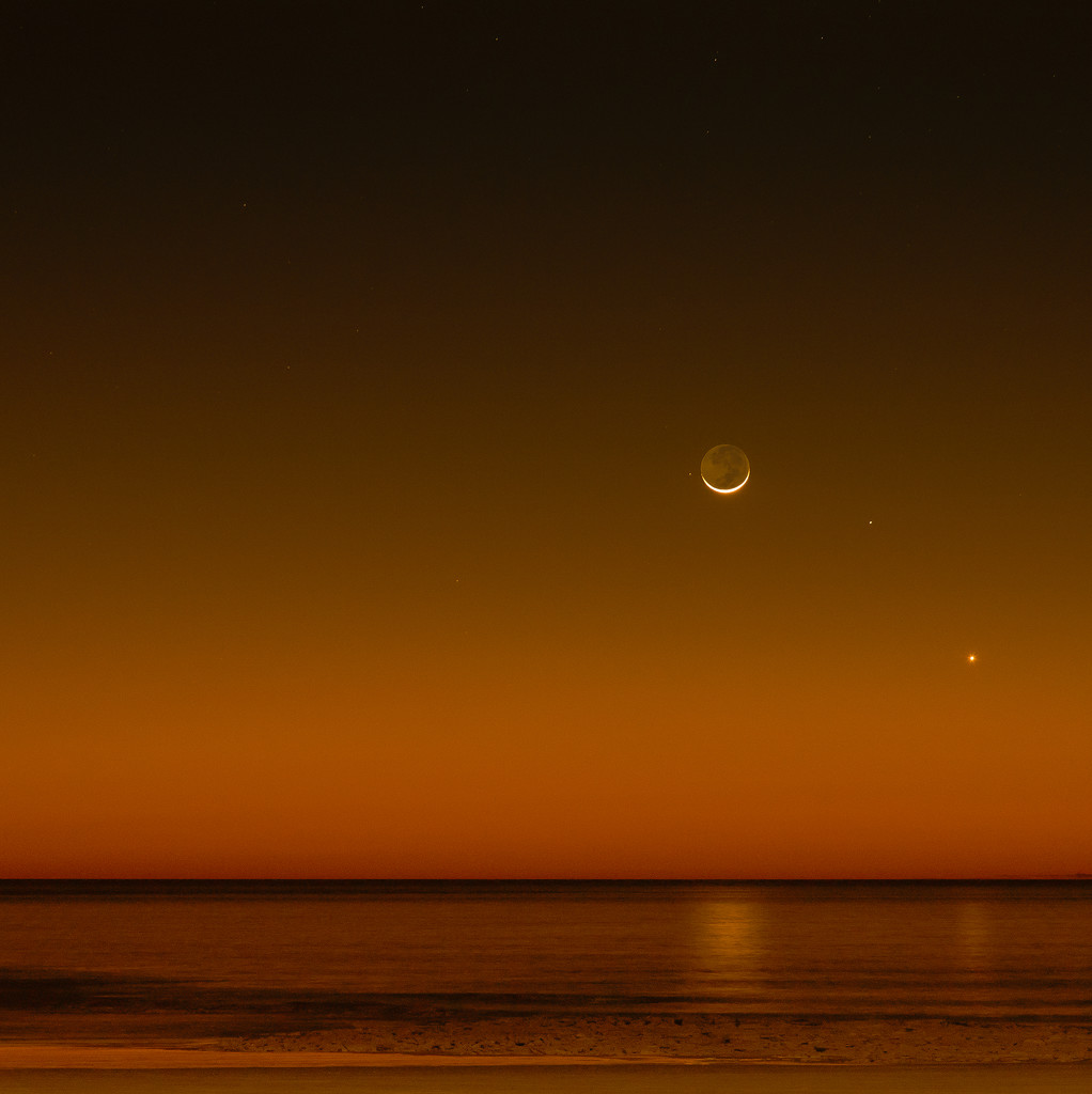 smiling moon by jerome