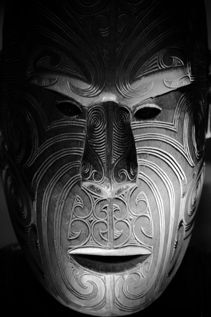 Maori mask by dkbarnett