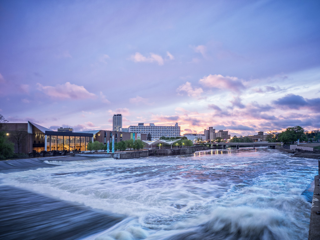 Sunset Over South Bend by rosiekerr