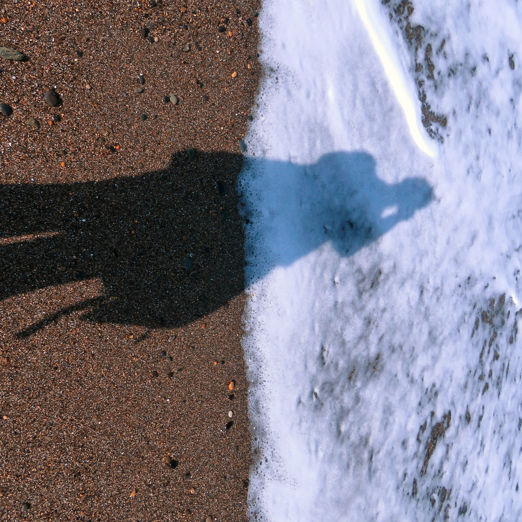 Sun, sea, sand... and a shadow selfie by m2016