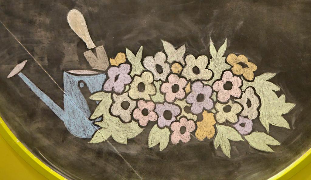 Chalk Drawing by gq