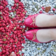 14th May 2017 - Half and Half Red Stones and Red Shoes