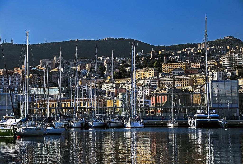 Early Evening Genoa Marina by megpicatilly