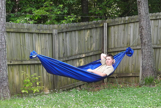 Scout-made hammock by homeschoolmom