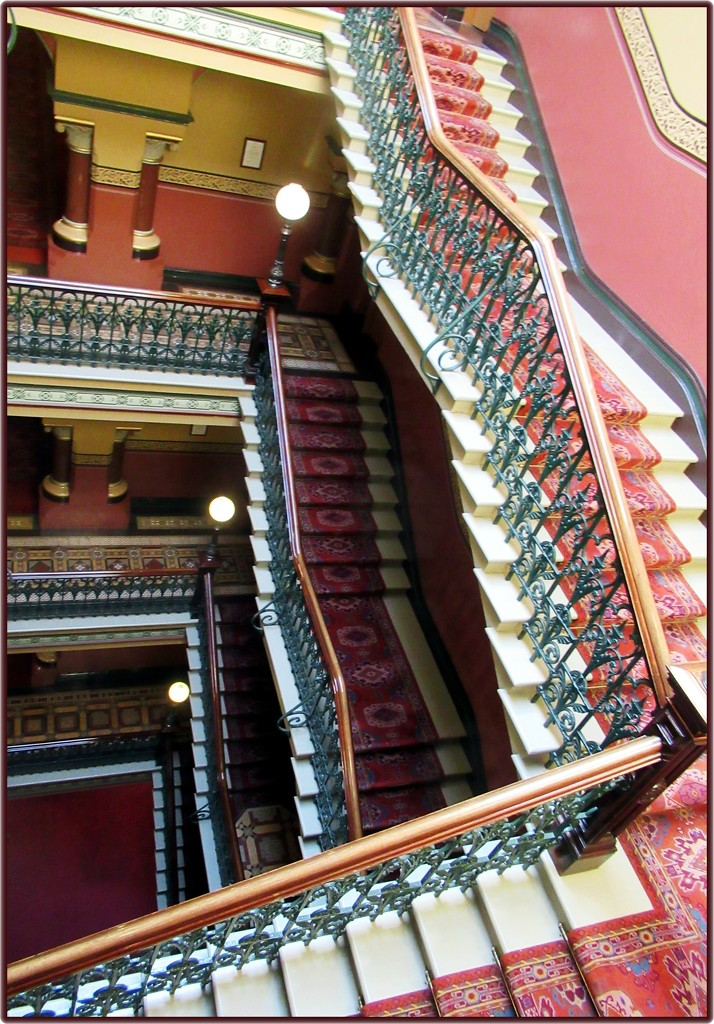 Staircase from the Windsor Hotel, Melbourne. by robz