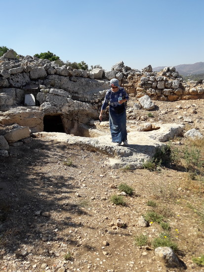 """Near the Entrance to The """"Water"""" or Cave Under Tel Shiloh by shilohmom"""