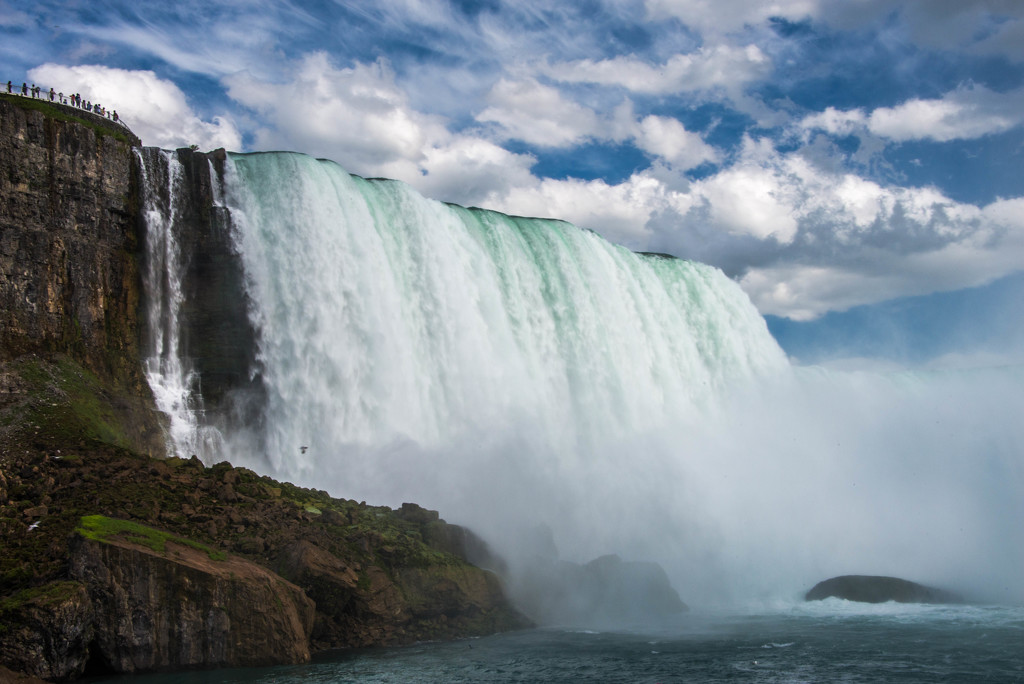 A View from Below the Falls by taffy