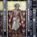 Hascombe church, Surrey, England:  painting of Joseph the carpenter (Tina's photo, my edit)