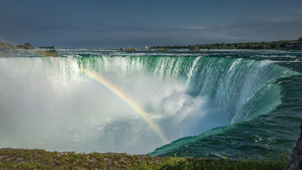 Rainbow Into the Falls by taffy