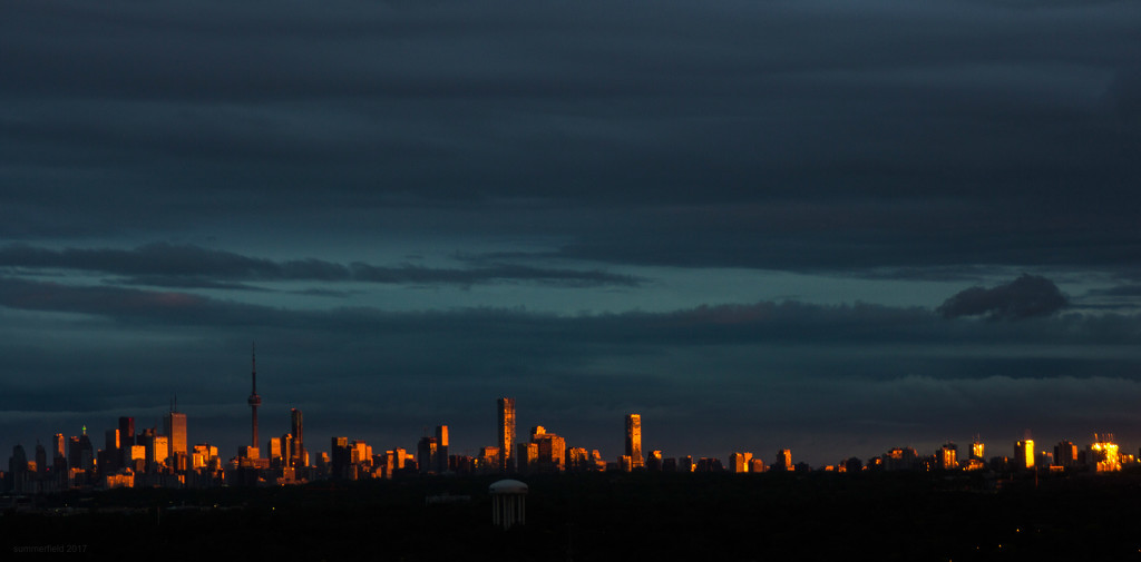 the sun sets on toronto by summerfield