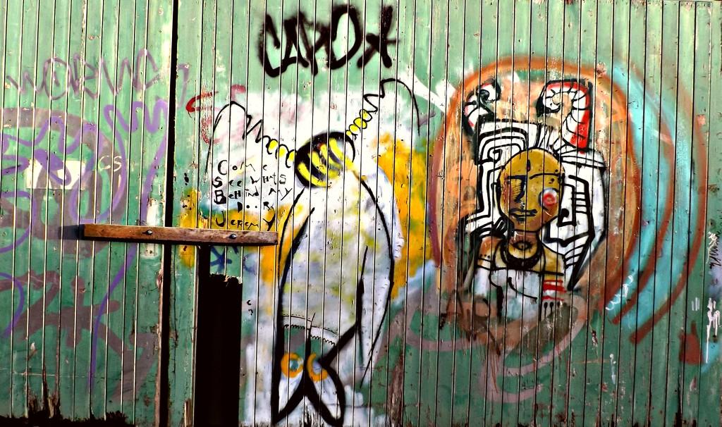 Glastonbury Graffiti #2 by ajisaac