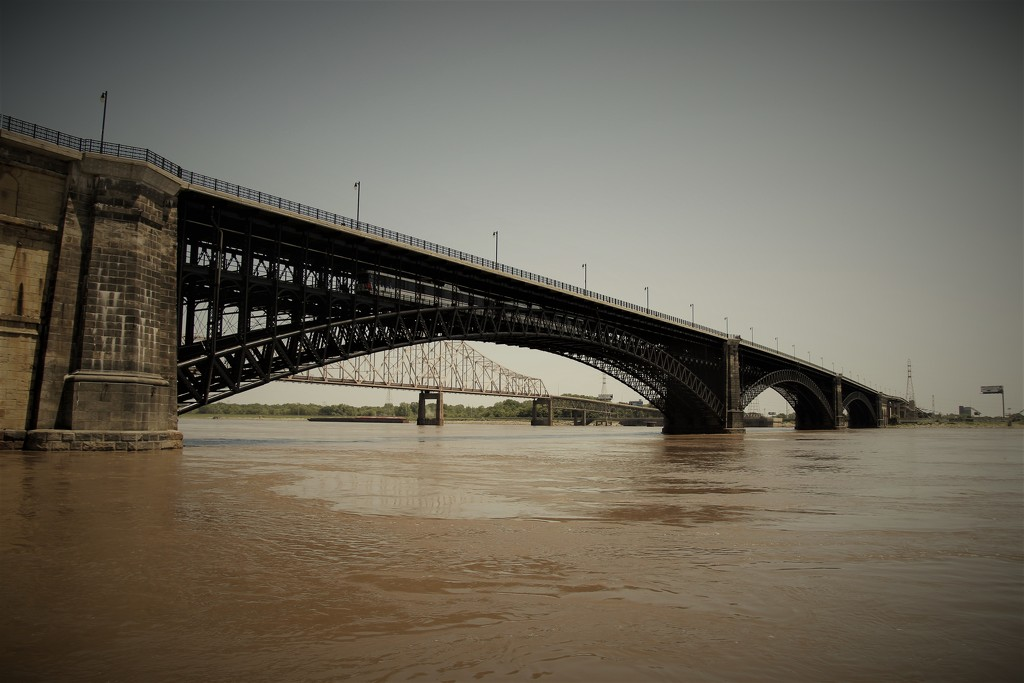 Eads Bridge Over The Mississippi River by randy23