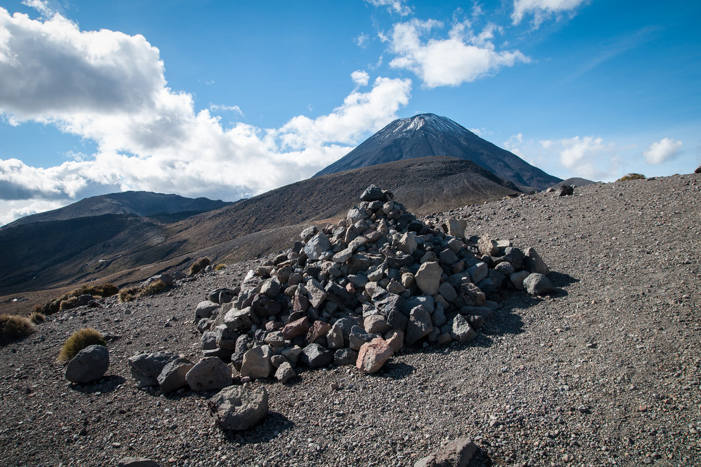 Rocks and a mountain by brigette