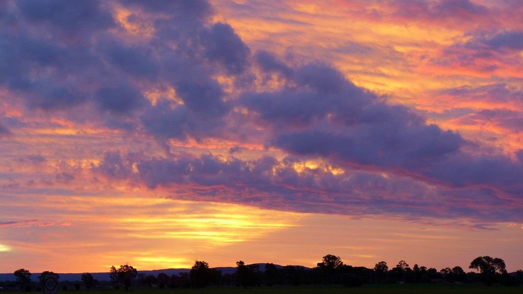 Purple fiery sky by leggzy