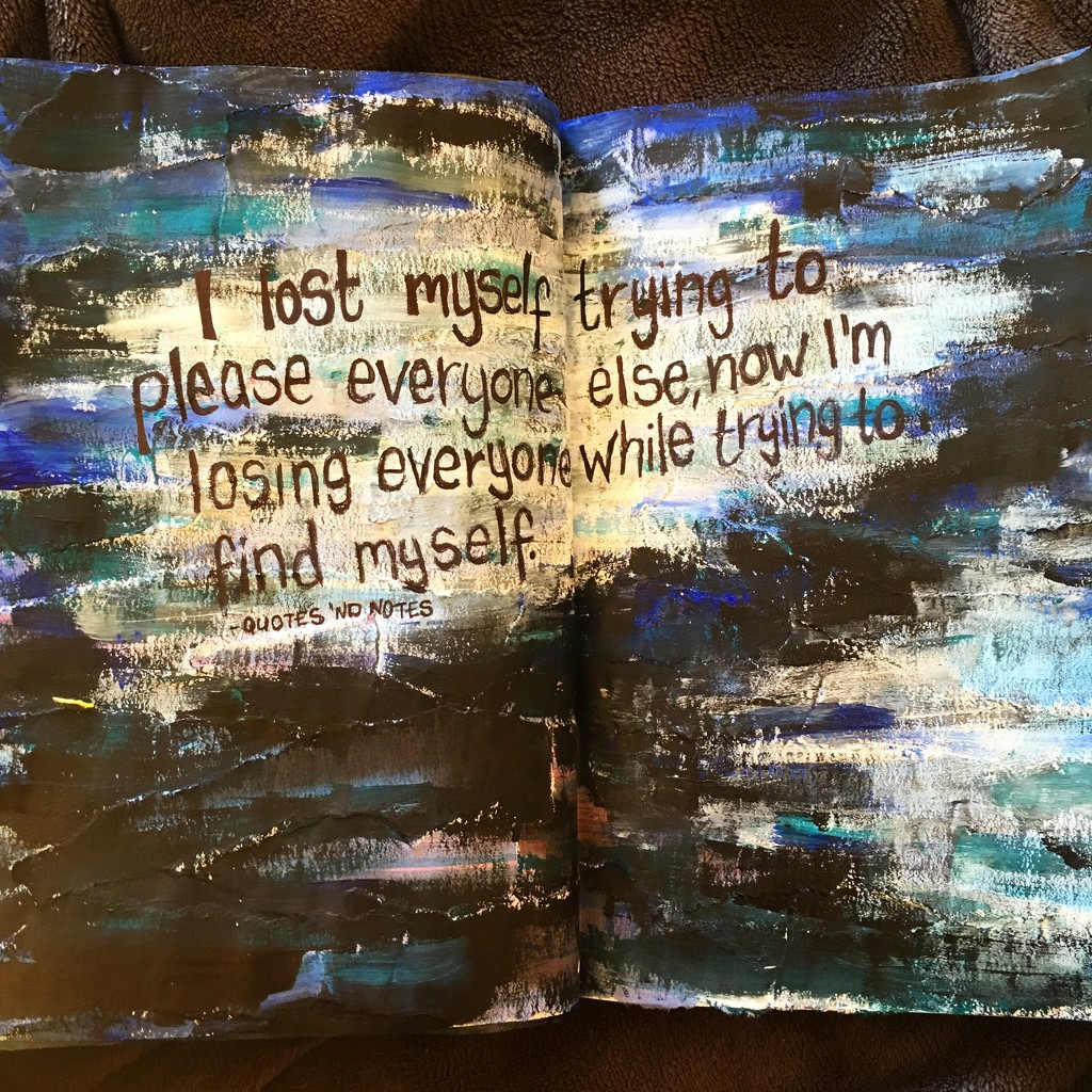 """I lost myself trying to please everyone else, now I'm losing everyone while trying to find myself"" -Quotes 'nd Notes by naomi"