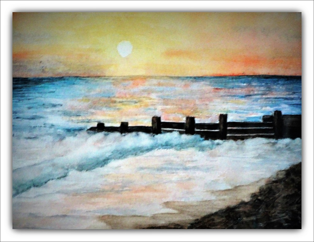 Sunset - the one I painted earlier !!  by beryl