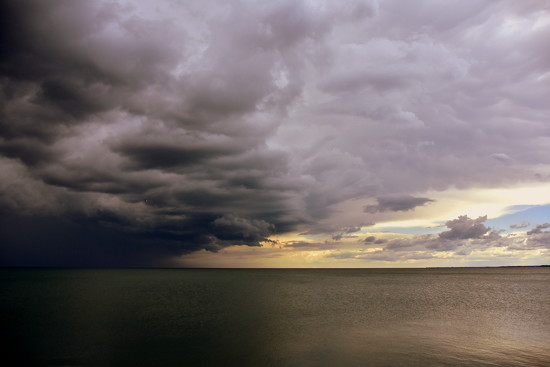 Storm clouds over the lake by jayberg