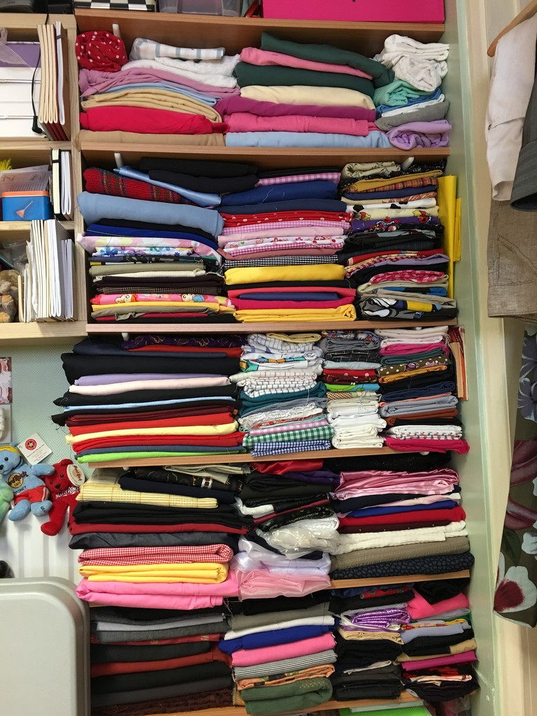 Fabrics Organised by bizziebeeme
