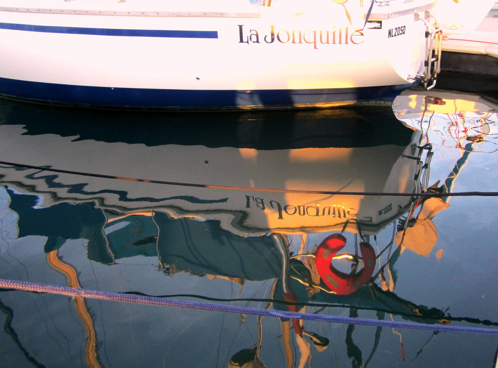 This Yacht comes from The Netherlands, but the reflection is in the Yacht Club Marina at Manly  Queensland by 777margo